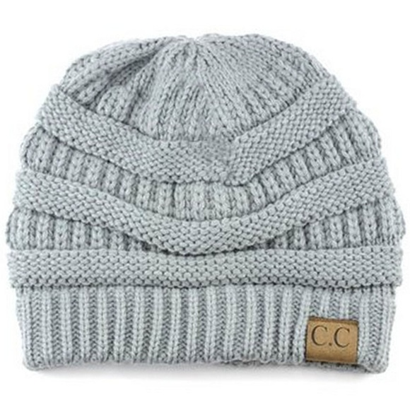 89844e299 C.C Cable Knit Solid Beanie-HAT-20A_NATURAL GREY Boutique
